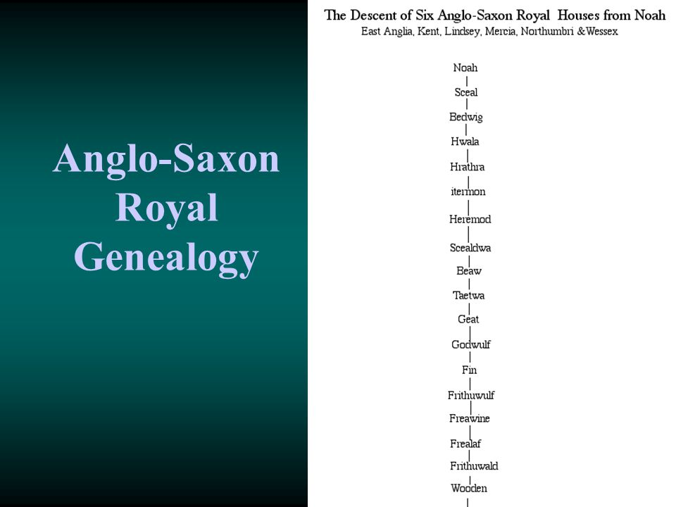 Anglo-Saxon Royal Genealogy
