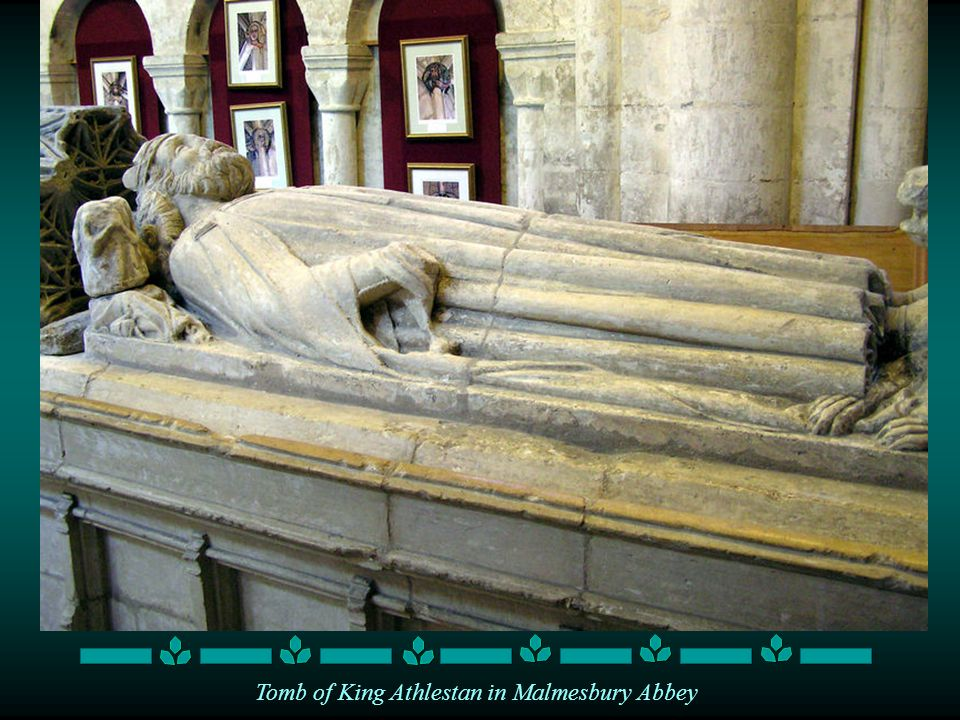 Tomb of King Athlestan in Malmesbury Abbey