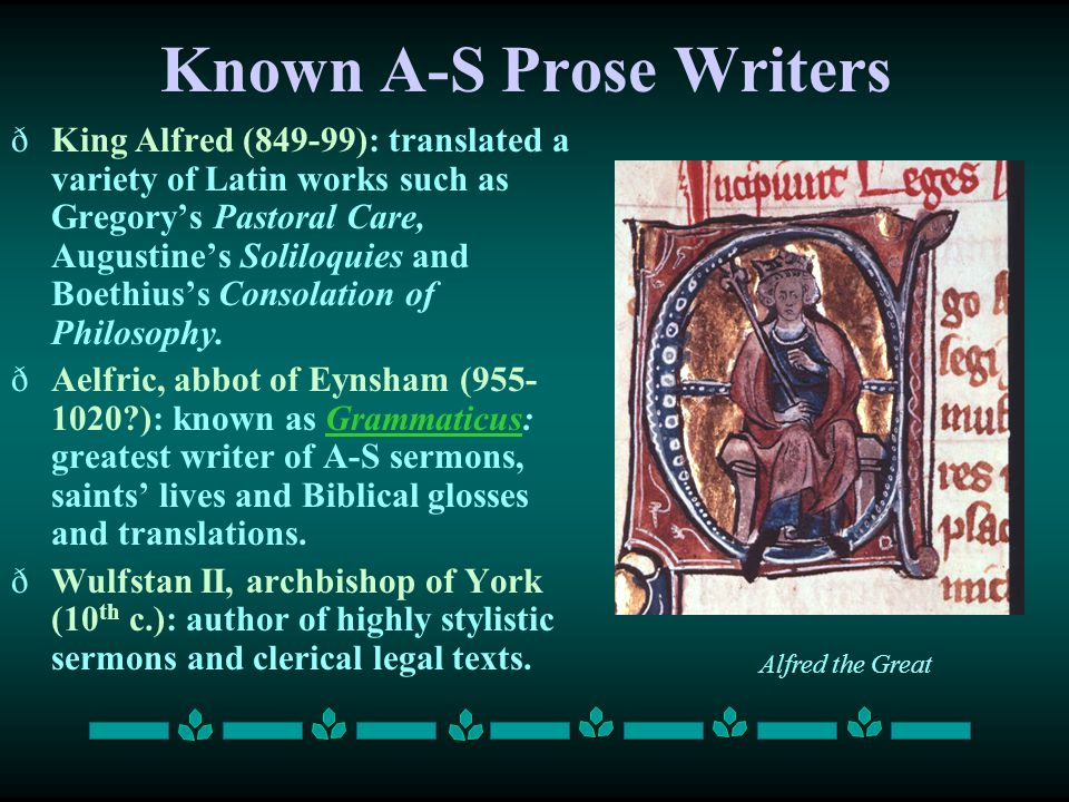 Known A-S Prose Writers