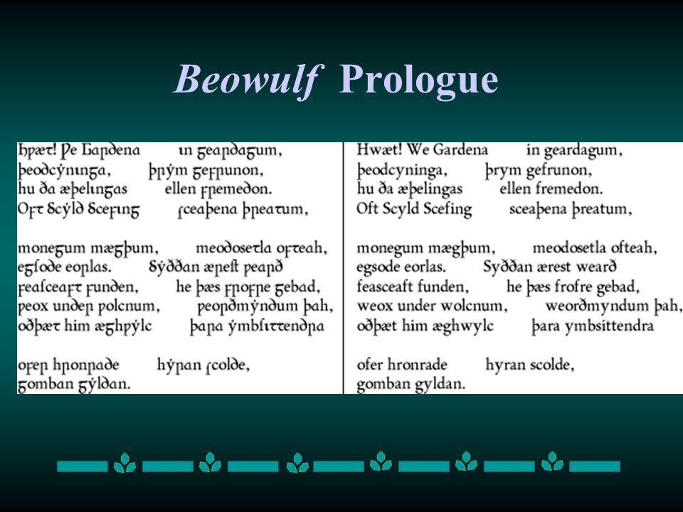 Beowulf Prologue
