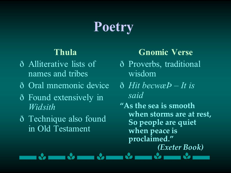 Poetry Thula Alliterative lists of names and tribes