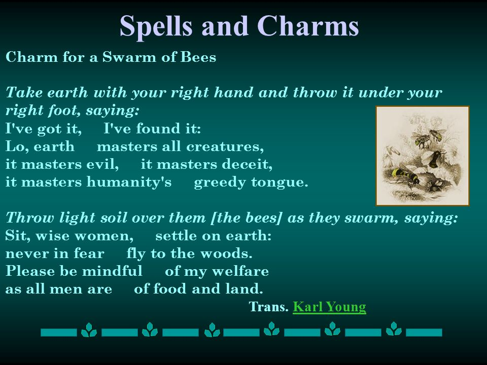 Spells and Charms Charm for a Swarm of Bees