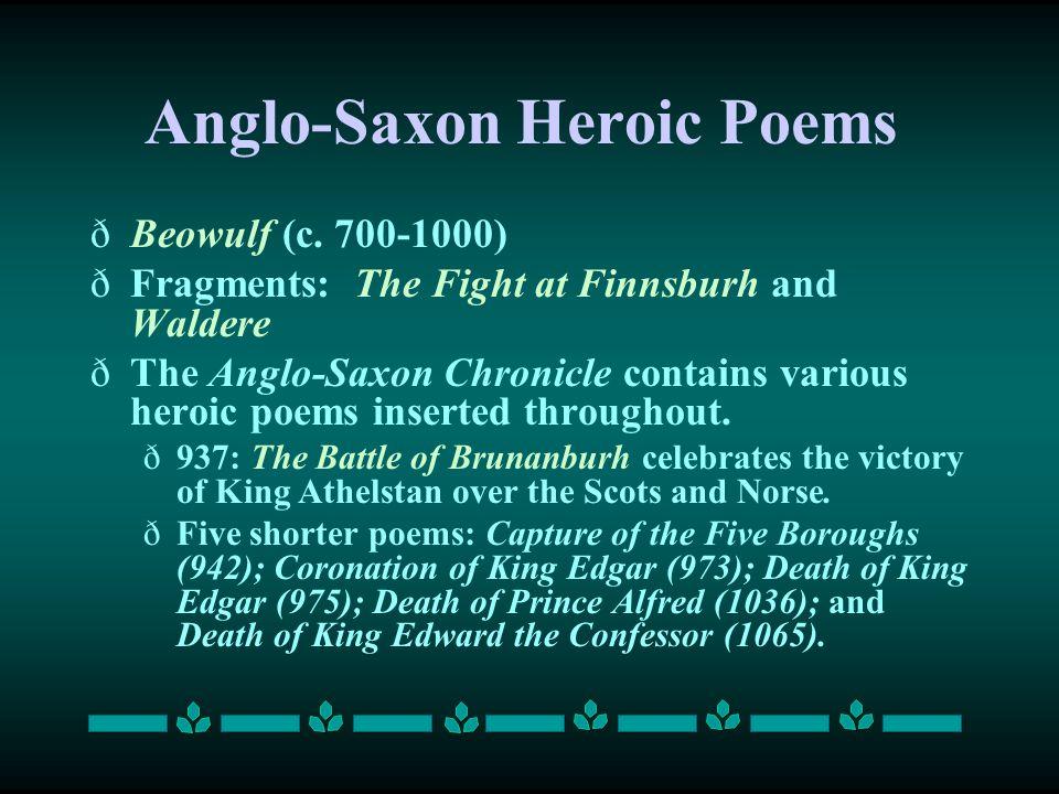 Anglo-Saxon Heroic Poems