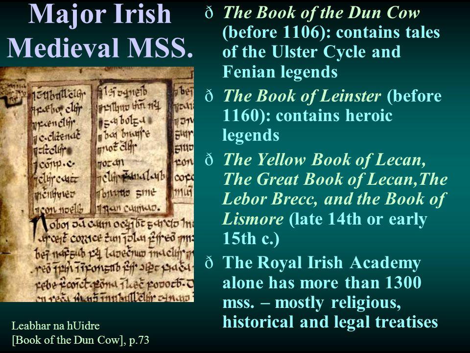 Major Irish Medieval MSS.