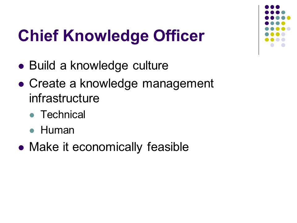 Chief Knowledge Officer