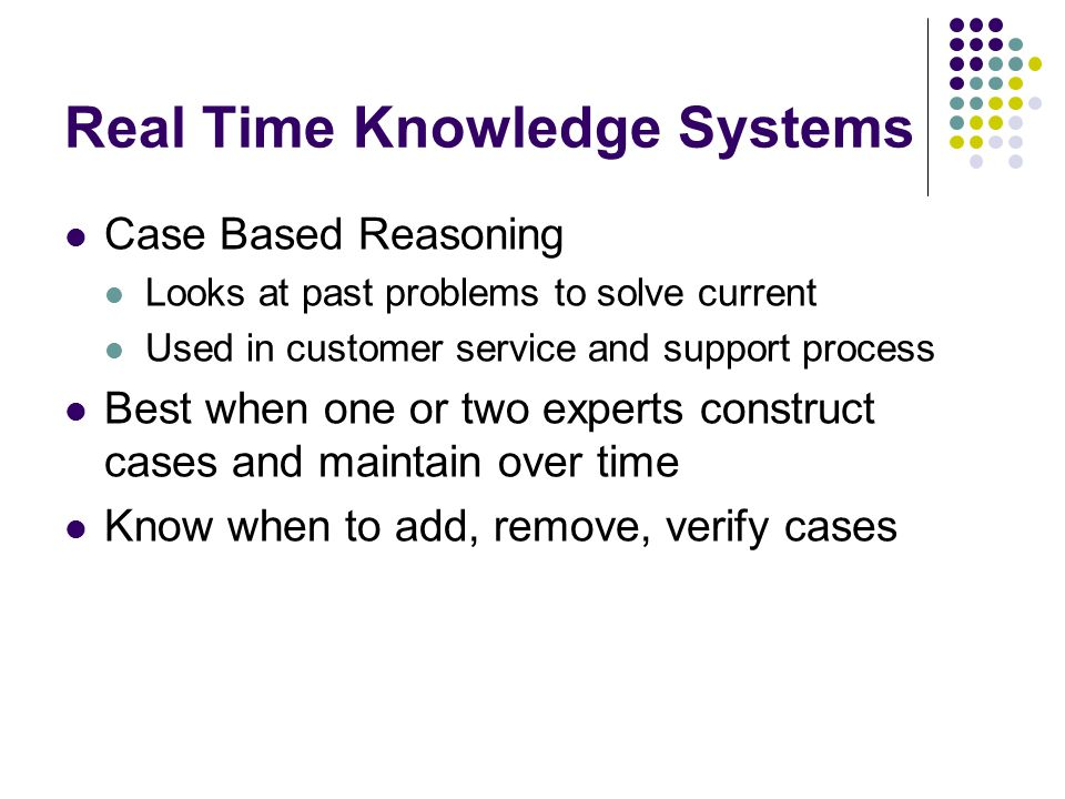 Real Time Knowledge Systems