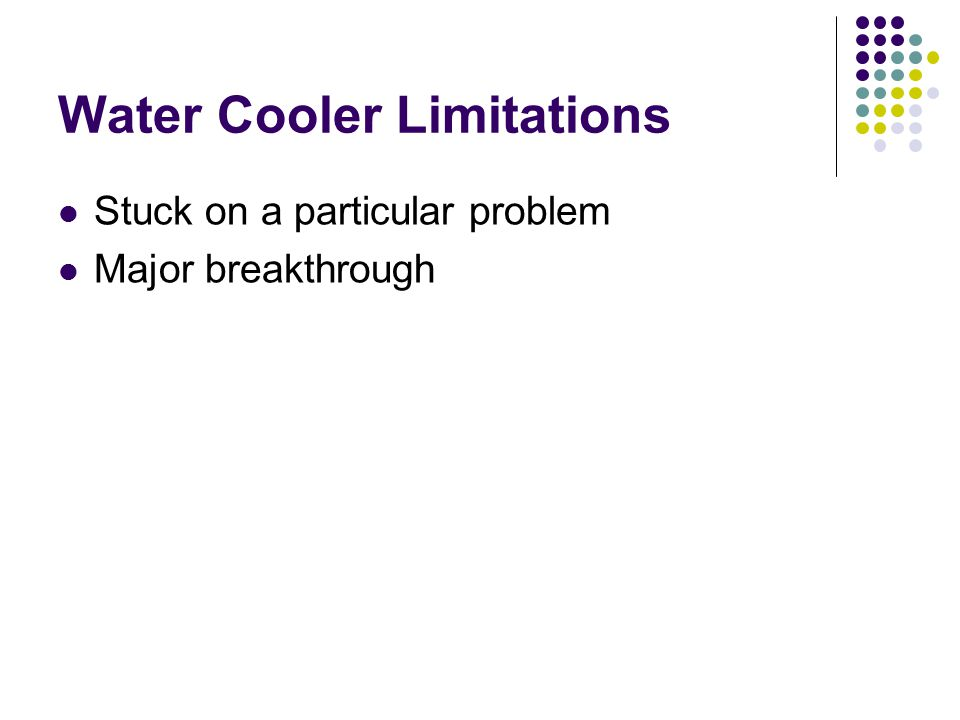 Water Cooler Limitations