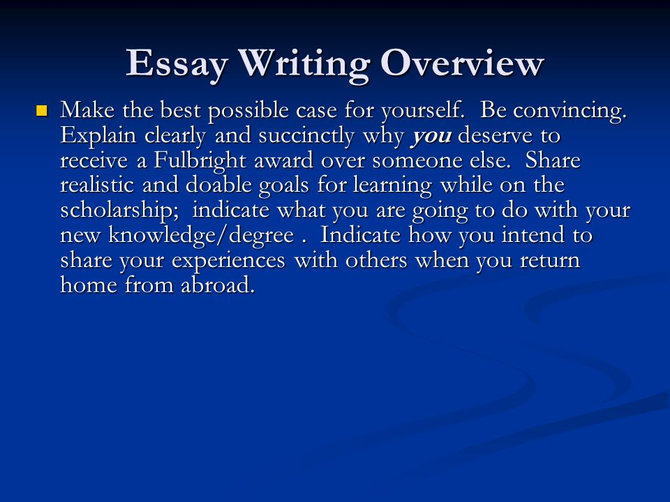 Do You Need An Essay On Why You Deserve A Scholarship?