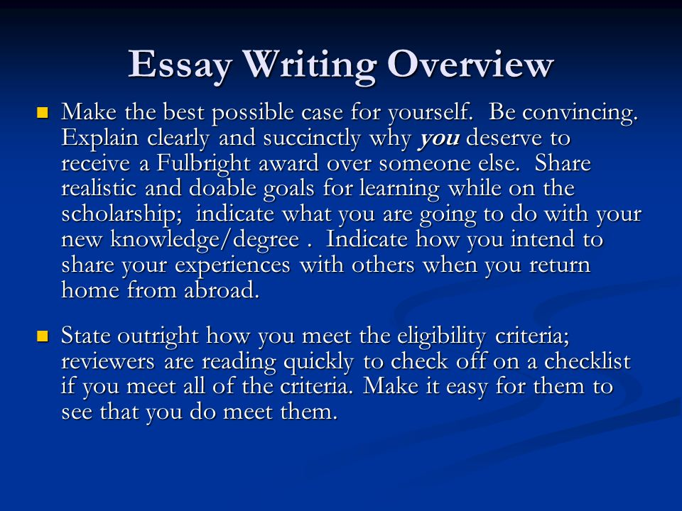 Difference between the Personal Statement & Study Objectives for Fulbright