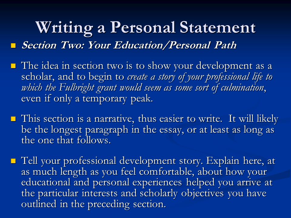 ma creative writing personal statement The statement of purpose is probably one of the most misunderstood aspects of graduate applications most students pass it off like it is just another essay about themselves, and naturally, write monotonous stuff that doesn't stand out.