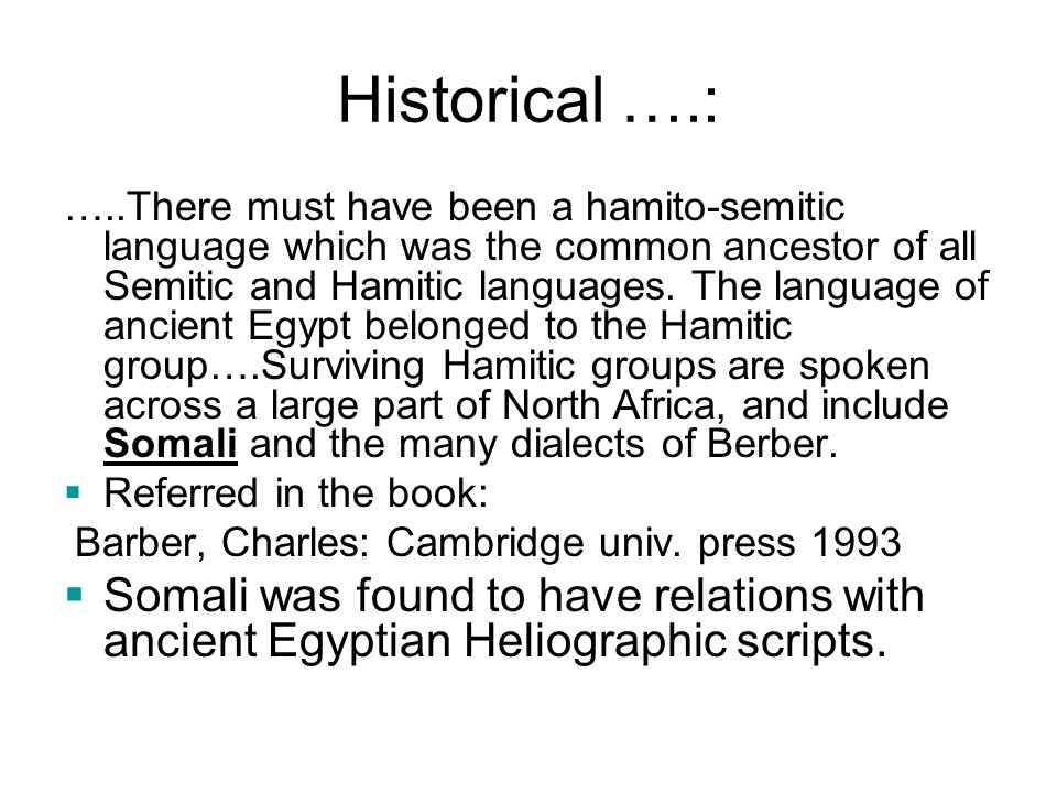 Historical ….: