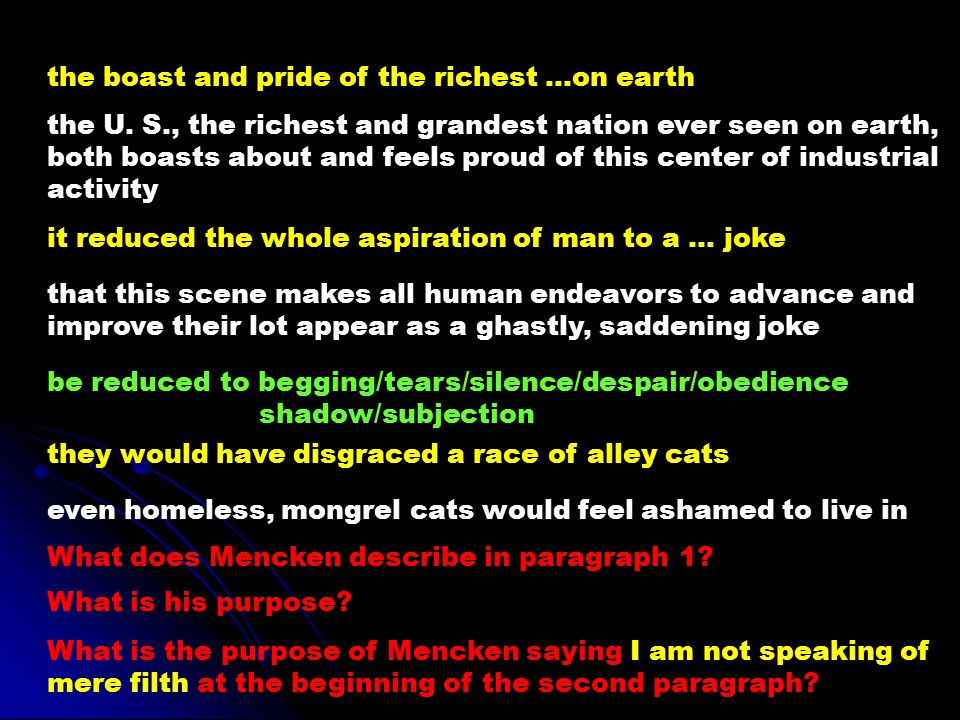 the boast and pride of the richest …on earth