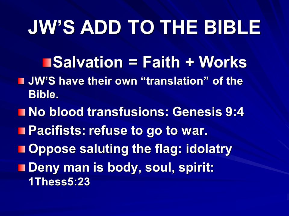 Salvation = Faith + Works