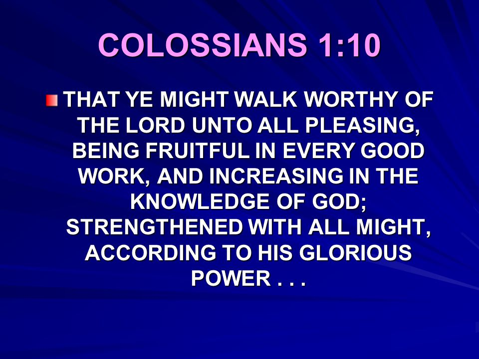 COLOSSIANS 1:10