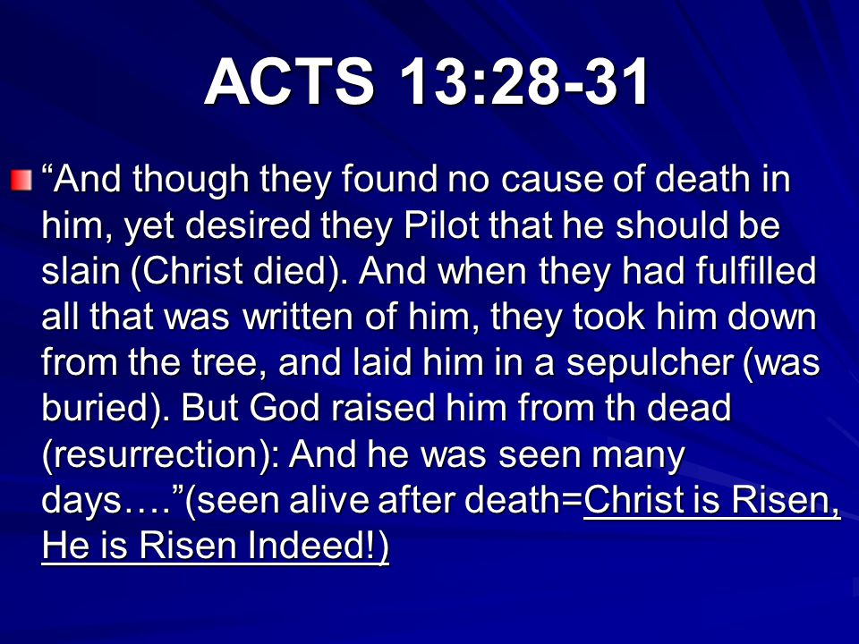 ACTS 13:28-31