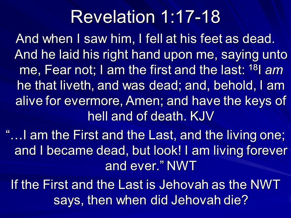 Revelation 1:17-18