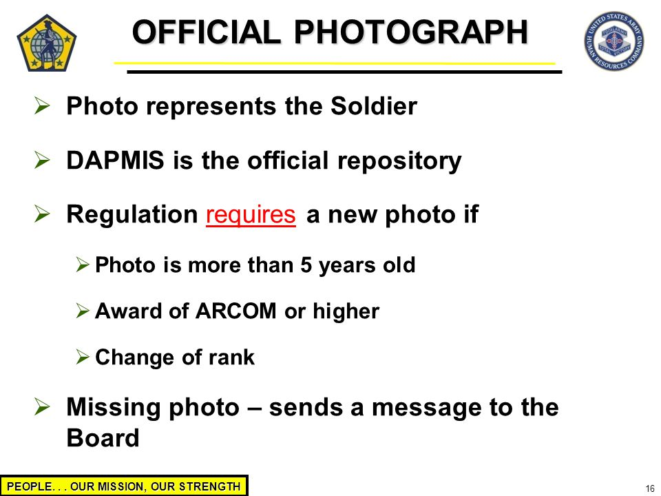 OFFICIAL PHOTOGRAPH Photo represents the Soldier
