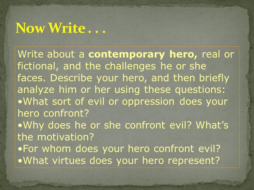 Now Write . . .