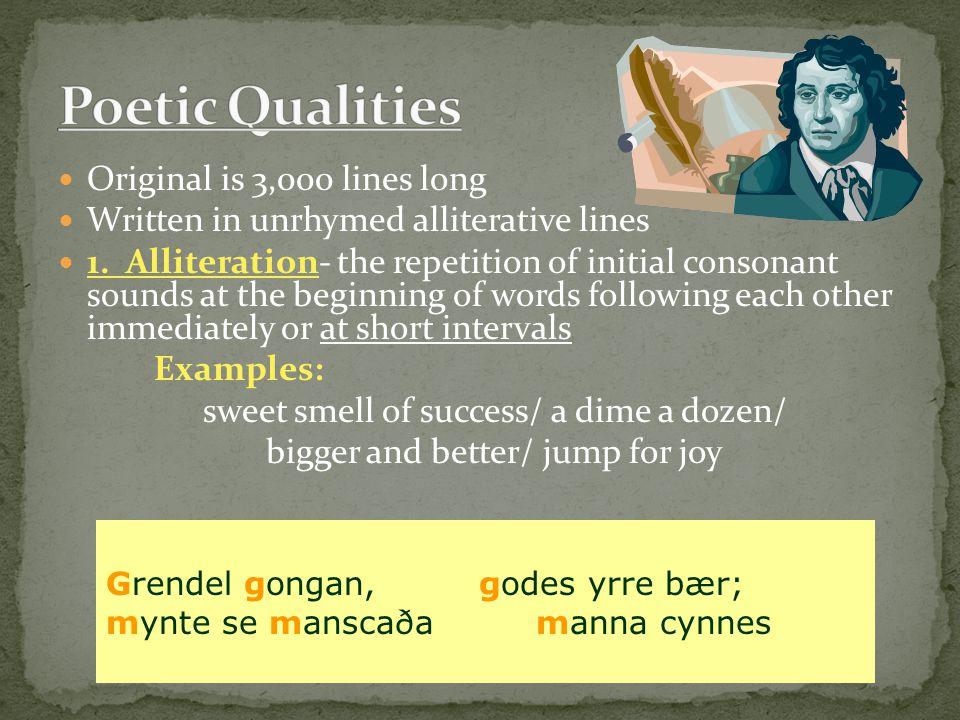 Poetic Qualities Original is 3,000 lines long