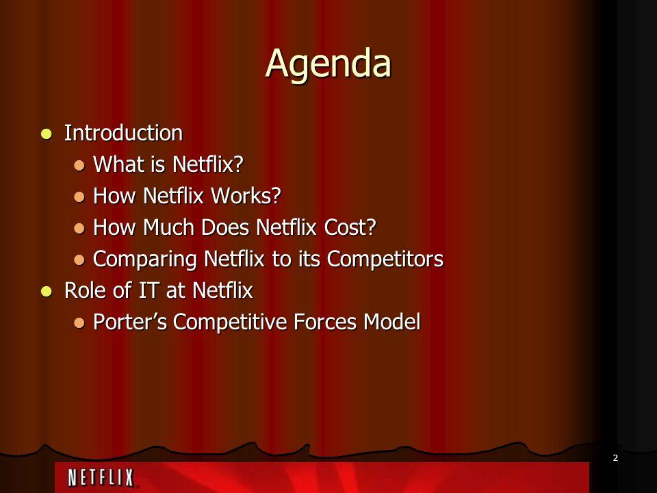 Agenda Introduction What is Netflix How Netflix Works