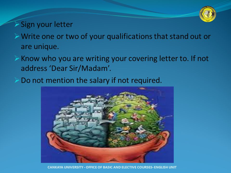 Write one or two of your qualifications that stand out or are unique.