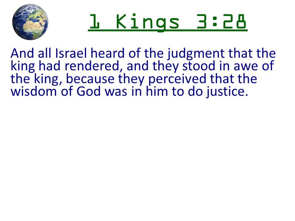 1 Kings 3:28