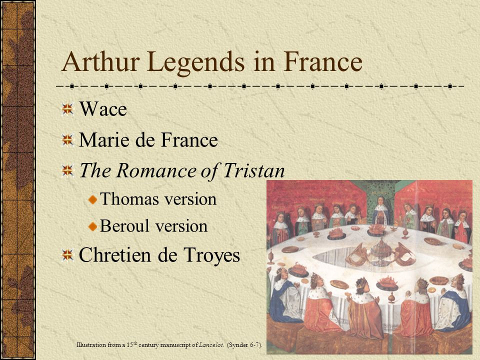 Arthur Legends in France
