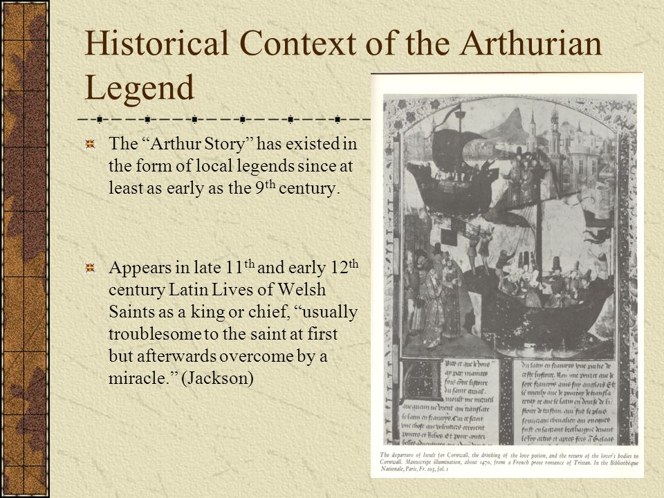Historical Context of the Arthurian Legend