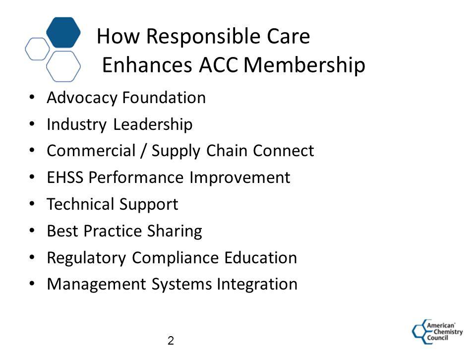 How Responsible Care Enhances ACC Membership