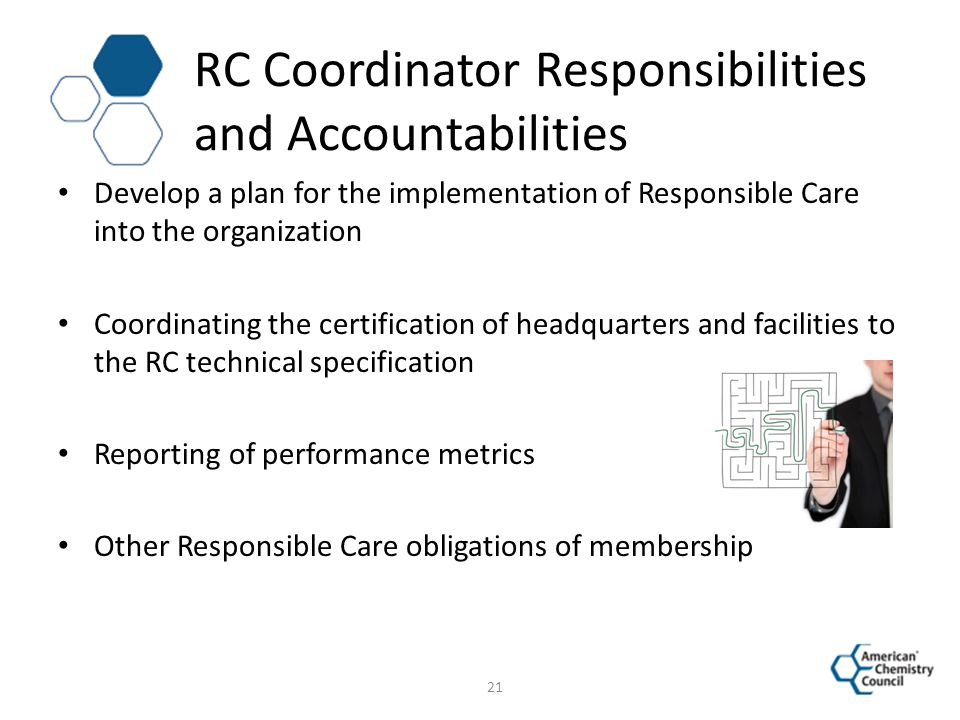 RC Coordinator Responsibilities and Accountabilities