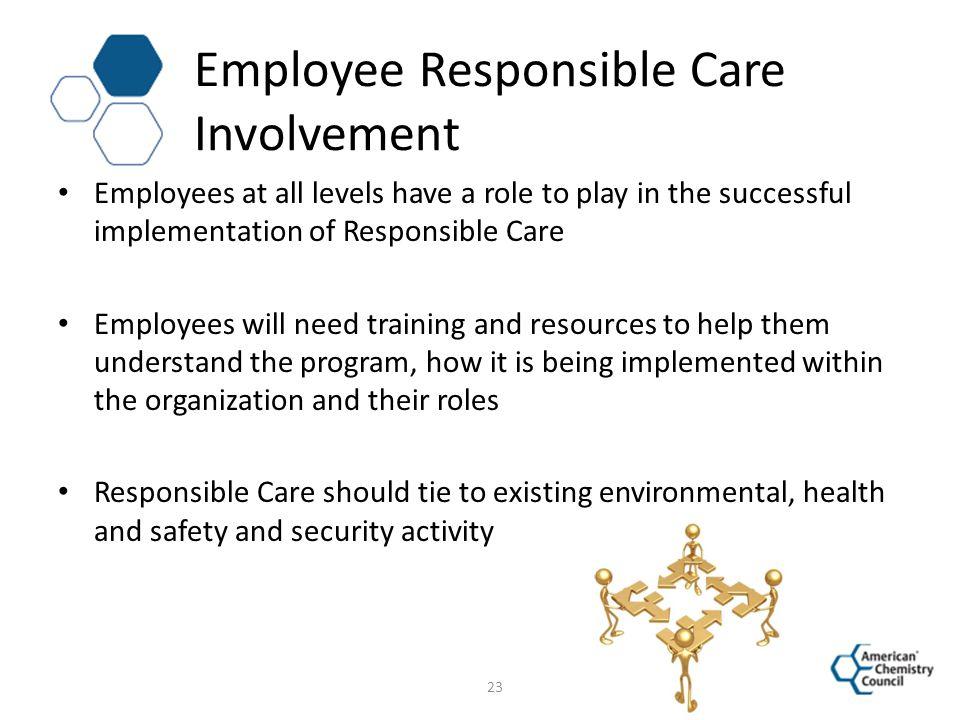 Employee Responsible Care Involvement