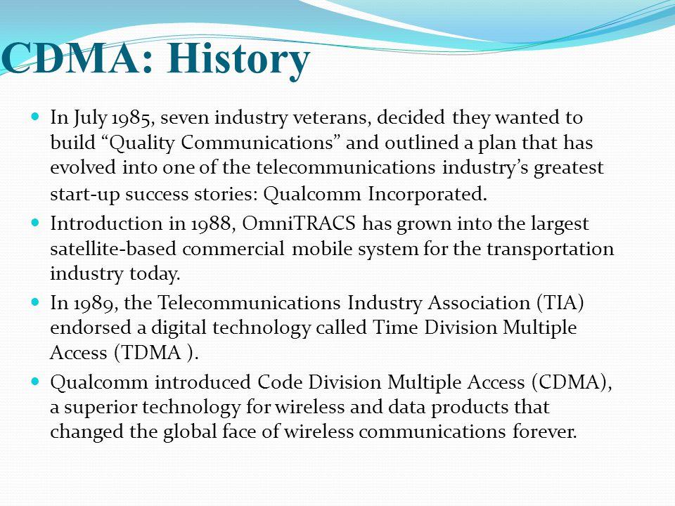 CDMA: History