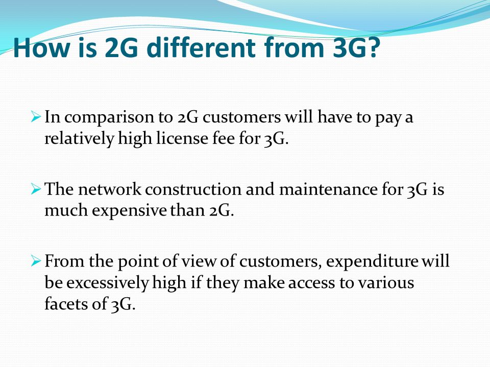 How is 2G different from 3G