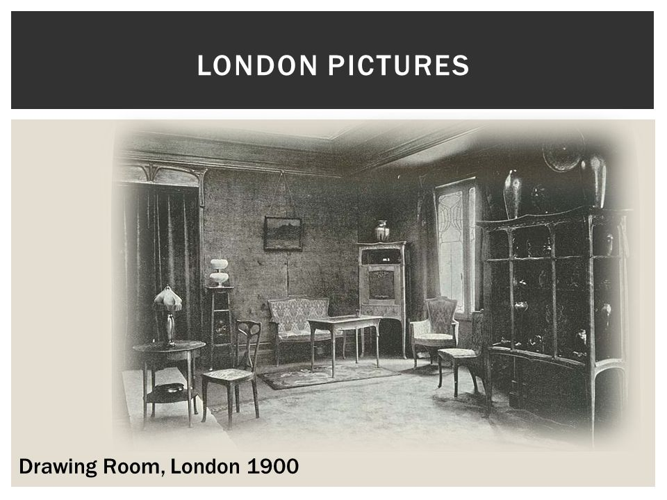 London pictures Drawing Room, London 1900