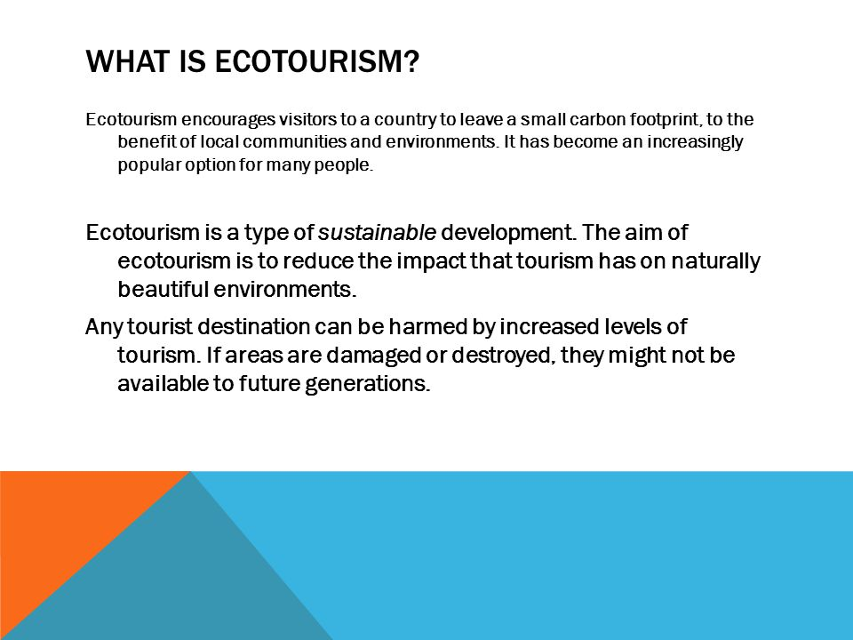 ecotourism essay Ecotourism essays: over 180,000 ecotourism essays, ecotourism term papers, ecotourism research paper, book reports 184 990 essays, term and research papers available for unlimited access.