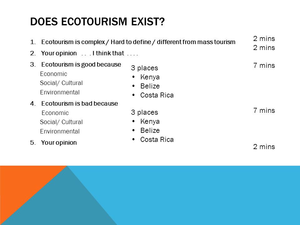 kenyas ecotourism essay Benefits of ecotourism april 27, 2010, c kapoor, comments off on benefits of ecotourism benefits of ecotourism according to international ecotourism society, ecotourism can be defined as a responsible and answerable travel to natural regions of the earth in such a way that no harm is caused to the natural environment.