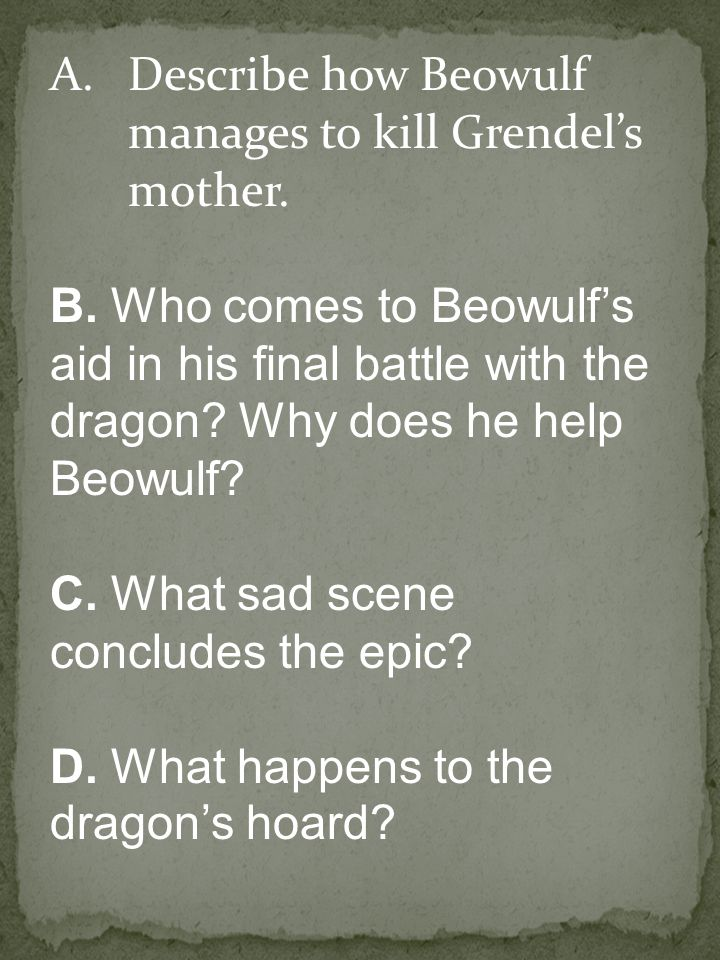 Describe how Beowulf manages to kill Grendel's mother.