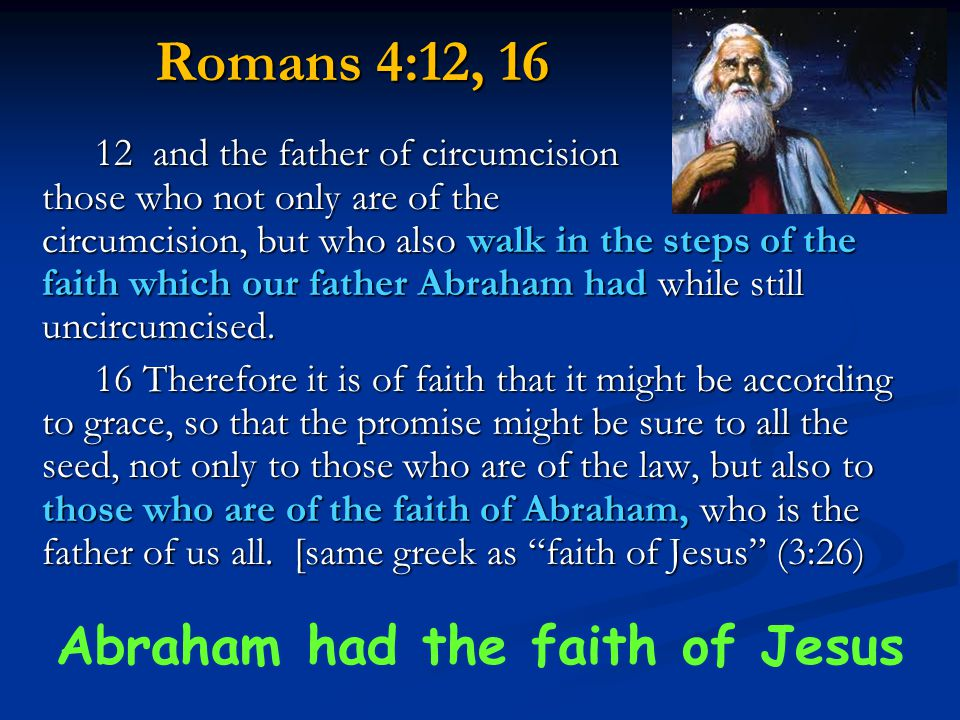 Abraham had the faith of Jesus