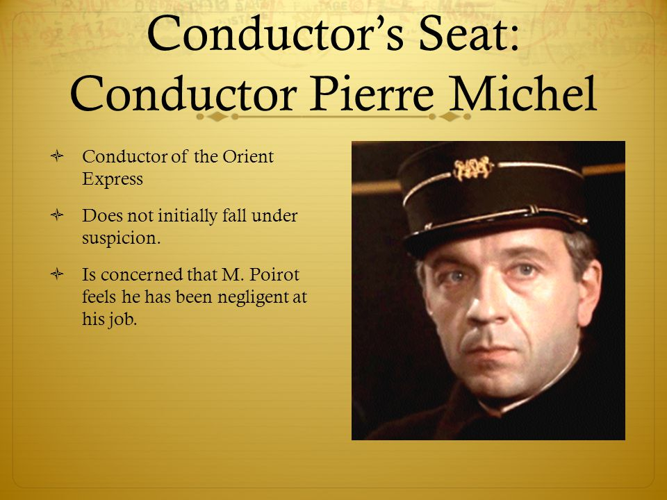 Conductor's Seat: Conductor Pierre Michel