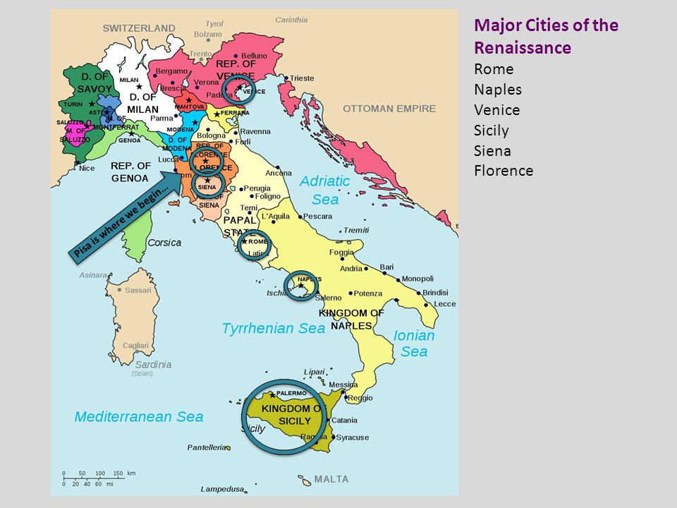 Major Cities of the Renaissance