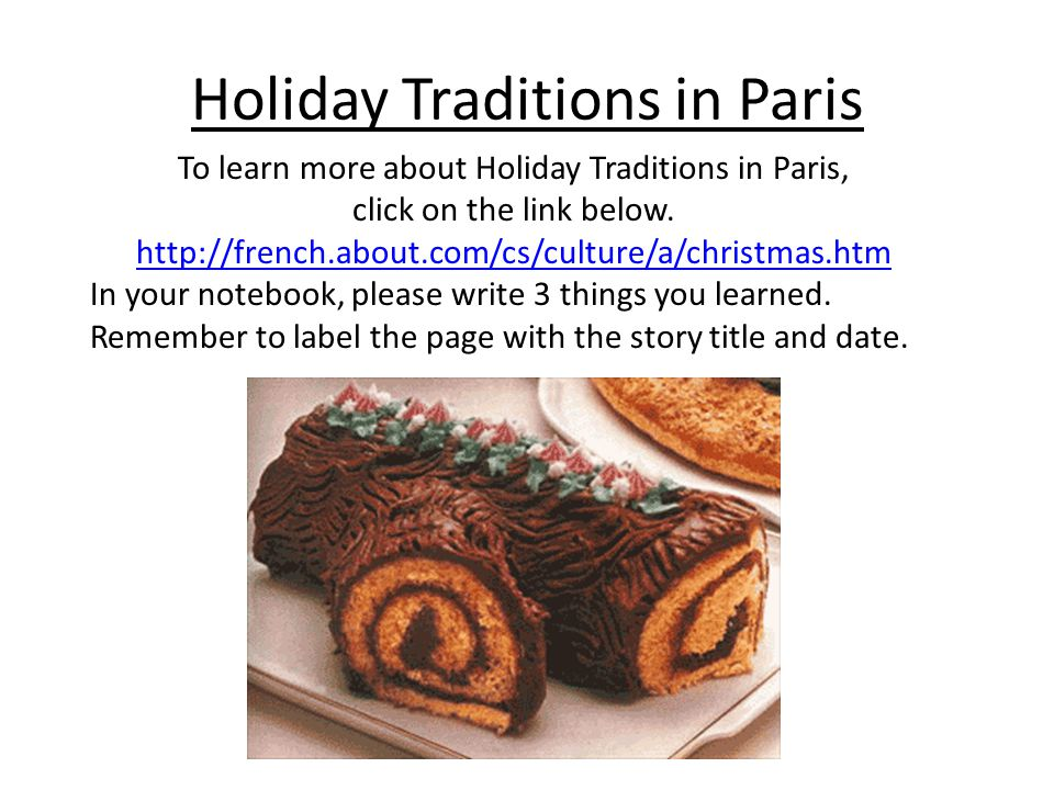 Holiday Traditions in Paris