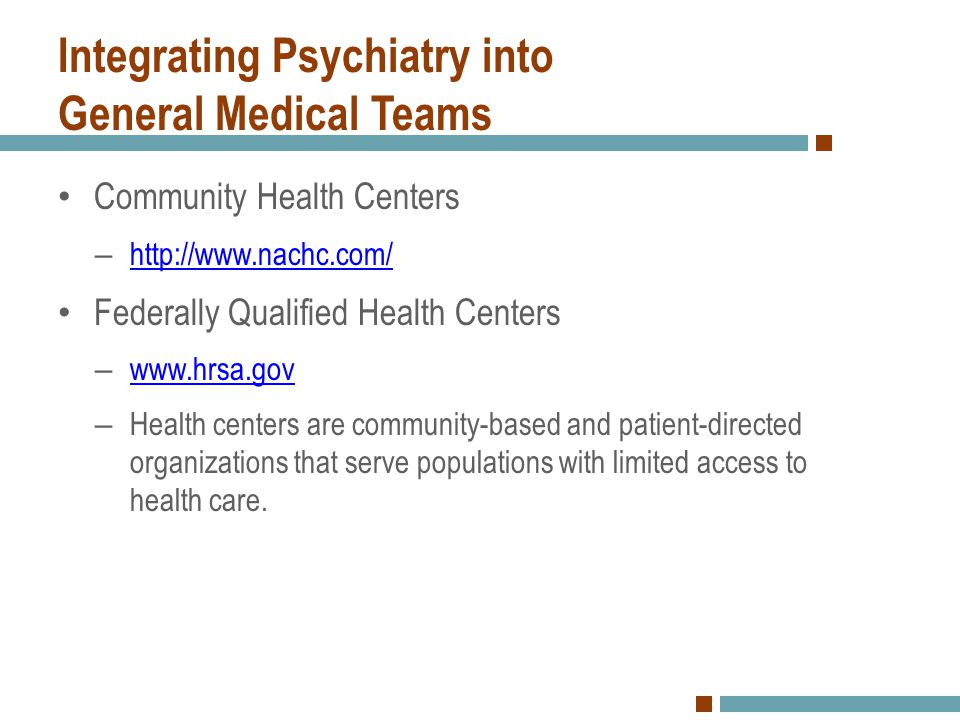 Integrating Psychiatry into General Medical Teams