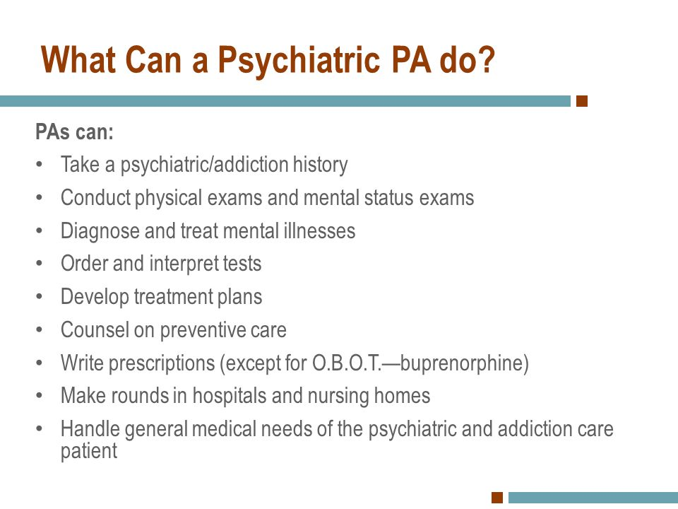 What Can a Psychiatric PA do