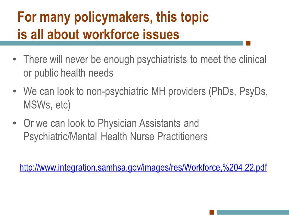 For many policymakers, this topic is all about workforce issues