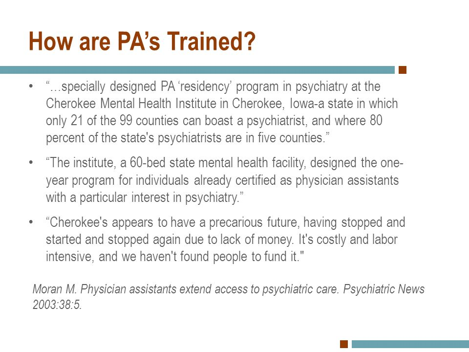 How are PA's Trained