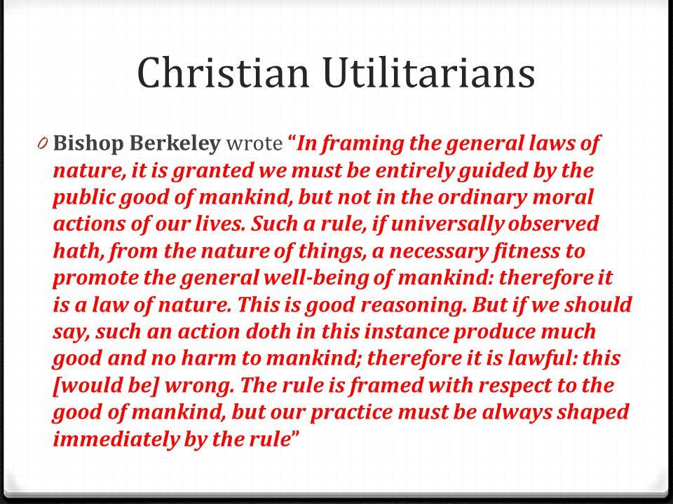 Christian Utilitarians
