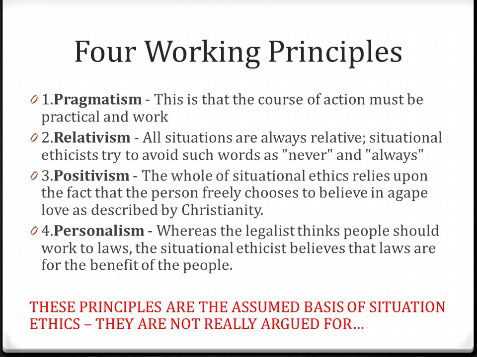 Four Working Principles