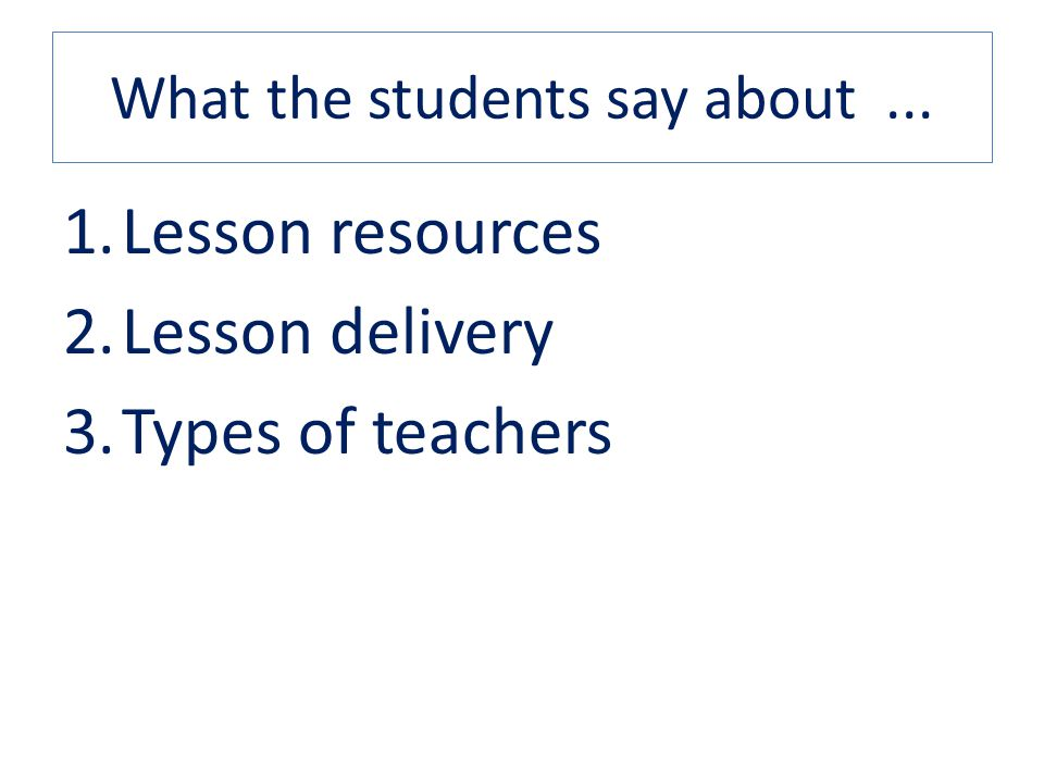 What the students say about ...