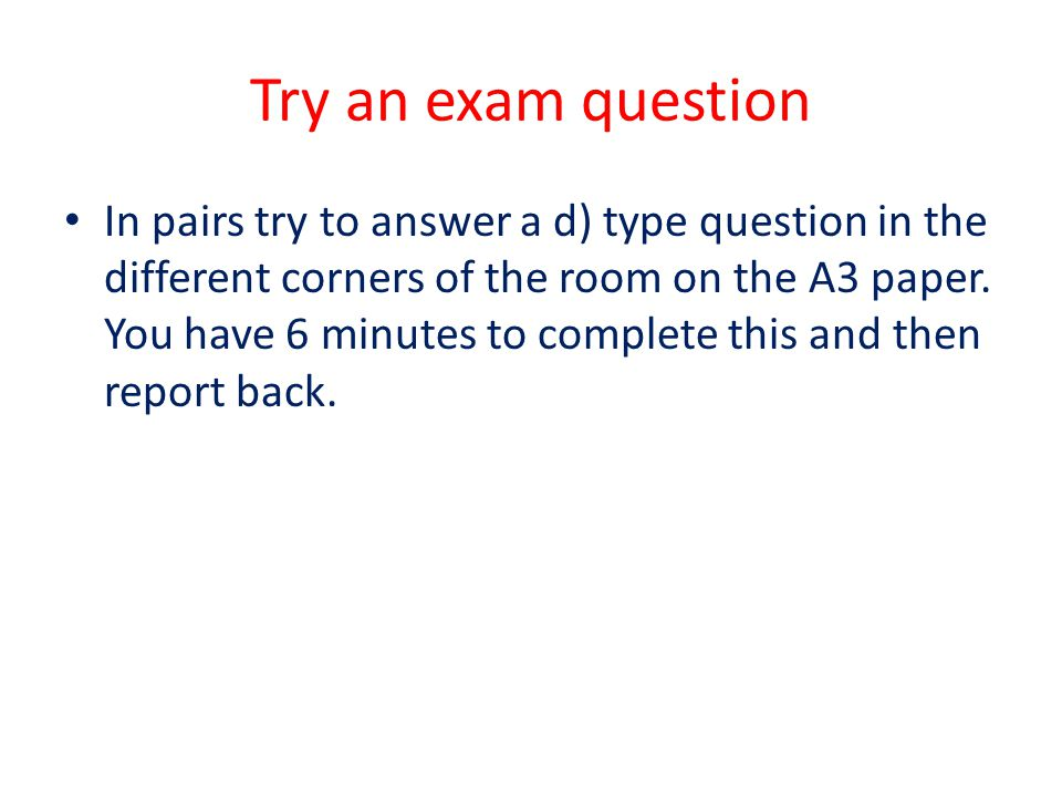Try an exam question
