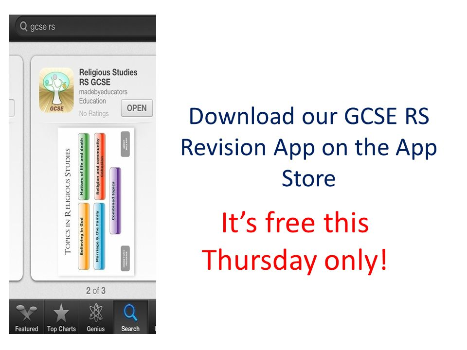 Download our GCSE RS Revision App on the App Store